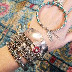 Silver bracelet bundle